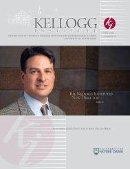 Fall 2012 - Kellogg Institute for International Studies - University of ...