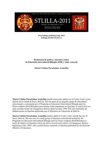 Resistencia de padres y docentes contra la Educación Intercultural ...