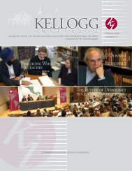 Newsletter 51 - Spring 2009 - Kellogg Institute for International ...