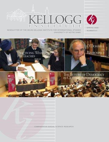 Newsletter 51 - Spring 2009 - Kellogg Institute for International ...
