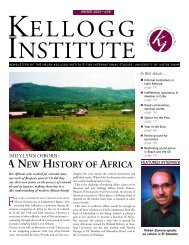 Newsletter 39 - Winter 2003 - Kellogg Institute for International ...