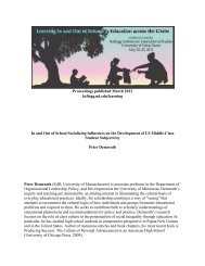In and Out of School Socializing Influences on the Development of ...