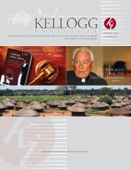 Newsletter 53 - Spring 2010 - Kellogg Institute for International ...