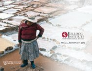 2011–2012 - Kellogg Institute for International Studies - University of ...