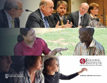 2010–2011 - Kellogg Institute for International Studies - University of ...