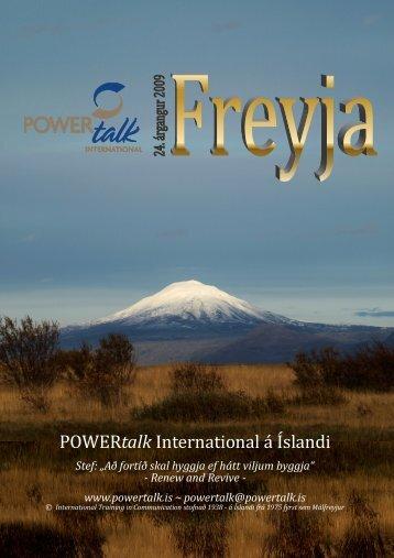 Freyja 2009 - tímart POWERtalk á Íslandi