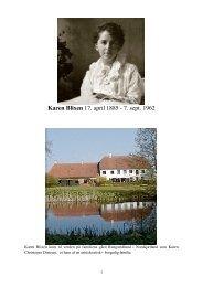 Karen Blixen 17. april 1885 - 7. sept. 1962