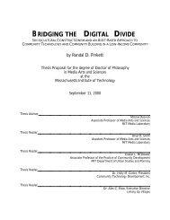 BRIDGING THE DIGITAL DIVIDE - CiteSeerX