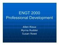 ENGT 2000 Professional Development