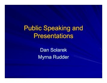 P bli S ki d P bli S ki d Public Speaking and Presentations