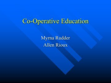 Co-Operative Education - The University of Toledo - Engineering ...