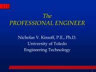 The PROFESSIONAL ENGINEER - The University of Toledo ...