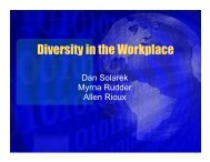Diversity in the Workplace - The University of Toledo - Engineering ...