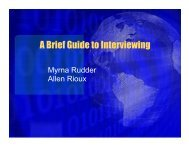 A Brief Guide to Interviewing - The University of Toledo ...