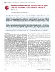 Anemias beyond B12 and iron deficiency: the buzz ... - Hematology