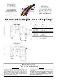 Schlauch-Dosierpumpen / Tube Dosing Pumps