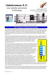 Umkehrosmose R.O. - Aquacare Gmbh & Co. KG