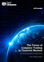 The Future of Computer Trading in Financial Markets ... - Dius.gov.uk