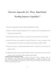 "Internet Appendix for ""Does Algorithmic Trading Improve Liquidity?"""