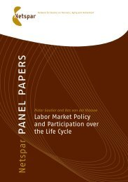 Labor market policy and participation over the life cycle