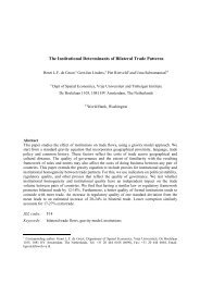 The Institutional Determinants of Bilateral Trade Patterns