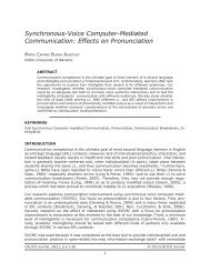 Synchronous-Voice Computer-Mediated Communication ... - Calico