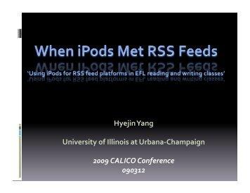 Hyejin Yang University of Illinois at Urbana‐Champaign ... - Calico