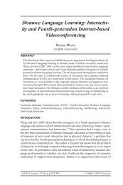 Distance Language Learning: Interactiv- ity and Fourth ... - Calico