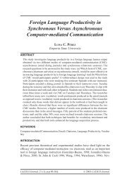 Foreign Language Productivity in Synchronous Versus ... - CALICO