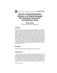 The Use of Speech Recognition Software as an English Language ...