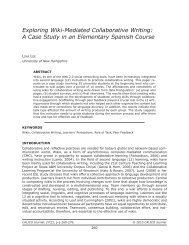 Exploring Wiki-Mediated Collaborative Writing: A Case Study - Calico