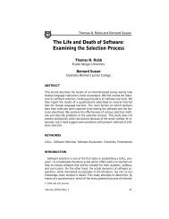 The Life and Death of Software - Software @ SFU Library