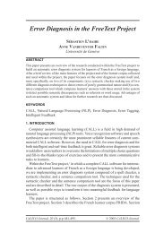 Error Diagnosis in the FreeText Project - CALICO