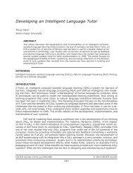 Developing an Intelligent Language Tutor