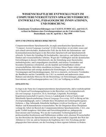 entwicklung, pädagogische innovationen, und forschu - Calico