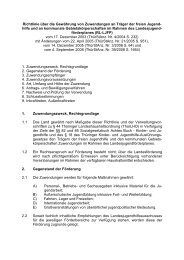 Richtlinie über die Gewährung von Zuwendungen an Träger der ...