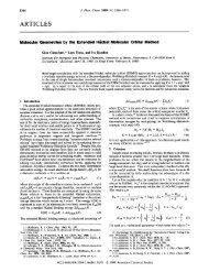Molecular geometries by the Extended Hueckel Molecular Orbital ...