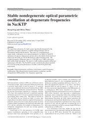 Stable nondegenerate optical parametric oscillation at degenerate ...