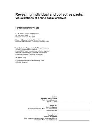 Revealing individual and collective pasts: - Sociable Media Group ...