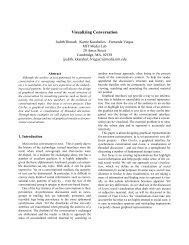 Visualizing Conversation - Sociable Media Group - MIT