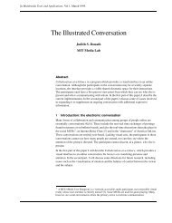 The Illustrated Conversation - Sociable Media Group - MIT