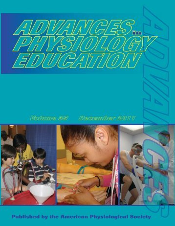 Front Matter (PDF) - Advances in Physiology Education