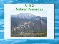 Unit 2 Natural Resources