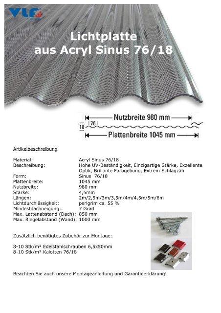 Acryl Sinus 7618 In 45mm Perlgrim Wabe