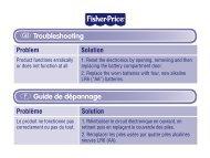 G Troubleshooting F Guide de dépannage - Mattel