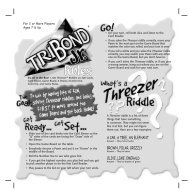 TriBond Jr. Rules (Page 1) - Mattel