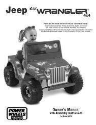 Owner's Manual - Mattel
