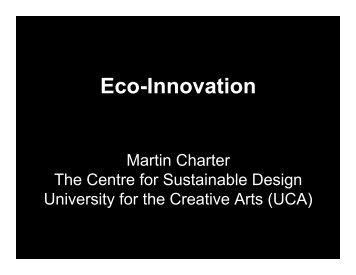 Eco-Innovation - The Centre for Sustainable Design