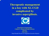 THERAPEUTIC MANAGEMENT IN A BOY WITH XL-CGD ...