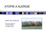 ATOPIE A ALERGIE - Ústav imunologie